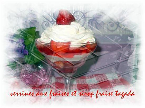 recette verrines au fraises et sirop fraise Tagada ®