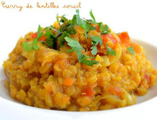 recette de curry de lentilles corail dahl. Black Bedroom Furniture Sets. Home Design Ideas