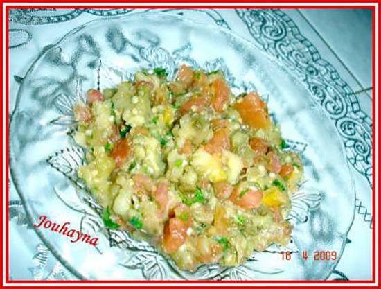 Recette de salade d 39 aubergines grill es - Recette d aubergines grillees ...
