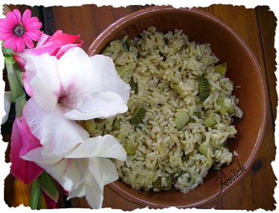 recette de risotto aux courgettes par anick. Black Bedroom Furniture Sets. Home Design Ideas