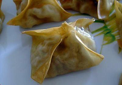 recette Raviolis chinois au poulet & crevettes
