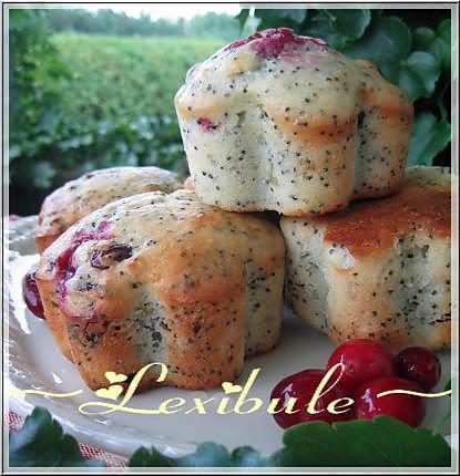 recette Muffins au citron, pavot et canneberges
