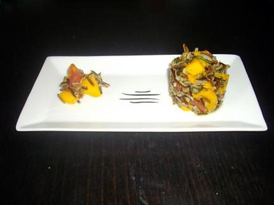 recette Timbale de riz sauvage à la mangue