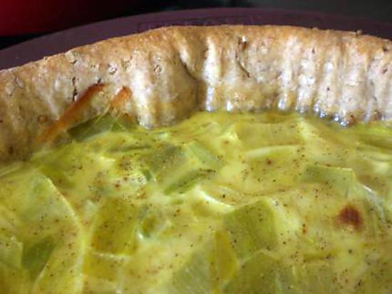 recette Quiche Poireau-Curry o sésame