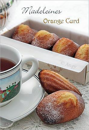 recette Madeleine orange curd