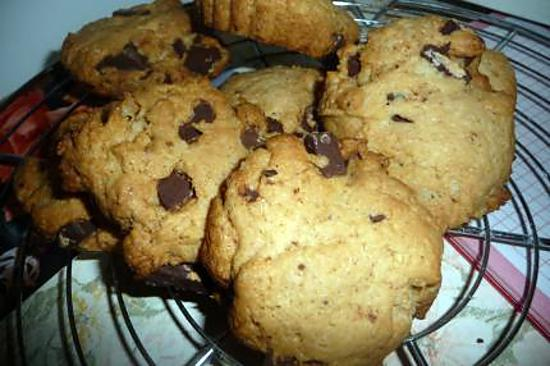recette cookie au chocolat au lait et noix de coco