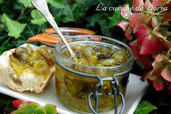 Recette de confiture de tomates cerises vertes et verveine - Cuisiner des tomates vertes ...