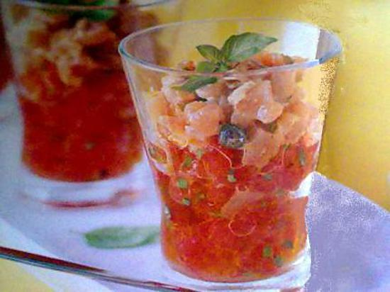 recette de verrines tartare de thon tomates. Black Bedroom Furniture Sets. Home Design Ideas