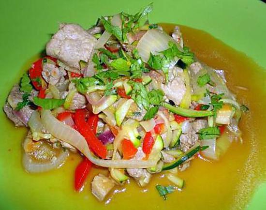 echine de porc aux legumes