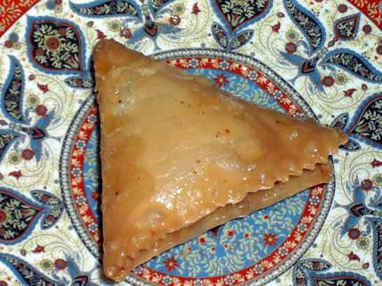 recette Samsa (triangles aux amandes)