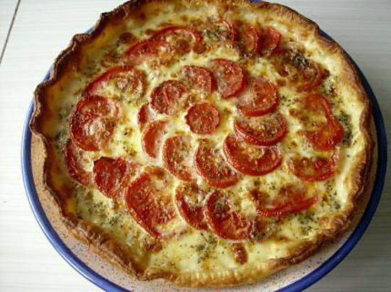 recette de tarte a la tomate et a la mozzarella par christi90. Black Bedroom Furniture Sets. Home Design Ideas