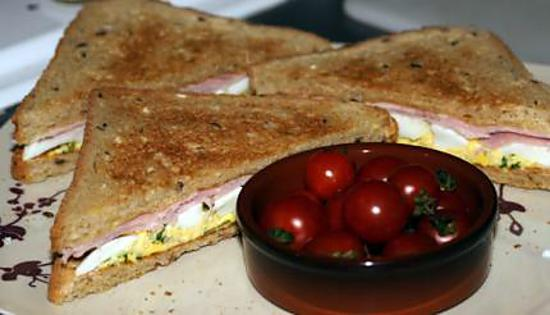 recette Sandwich jambon œuf mimosa