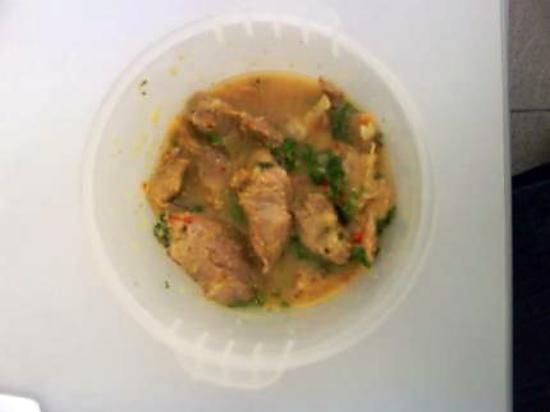recette DINDE A L'INDIENNE CORIANDRE  (0% DE GRAISSE)