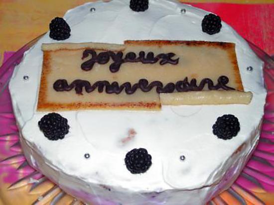 recette Gâteau aux myrtilles