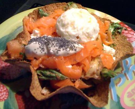 recette Tacos salad au saumon - Diététique !
