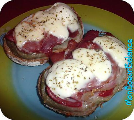 recette de bruschetta aubergine jambon cru et mozzarella weight watchers propoints. Black Bedroom Furniture Sets. Home Design Ideas