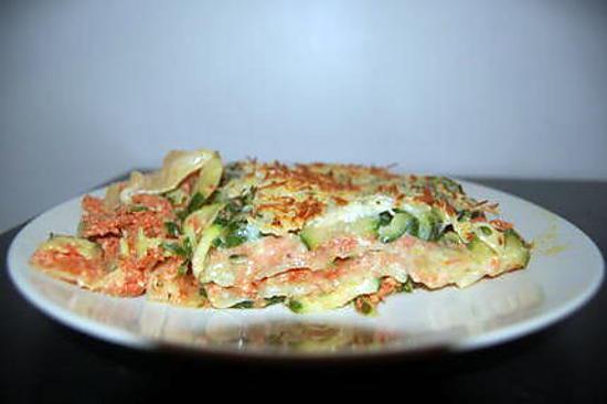 recette de lasagnes l g res poulet courgettes tomates. Black Bedroom Furniture Sets. Home Design Ideas