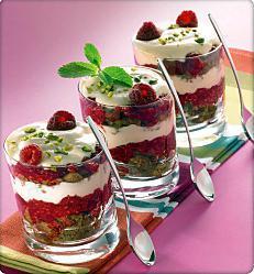 Verrine dessert framboise for Dessert aux fruits en verrine