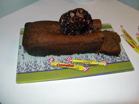 recette cake aux carambars avec sa tuile et sa crème anglaise aux carambars