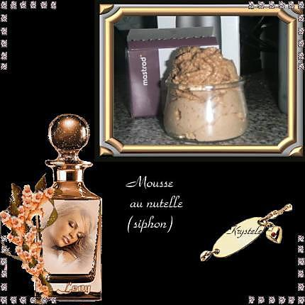 recette Mousse au nutella (siphon)