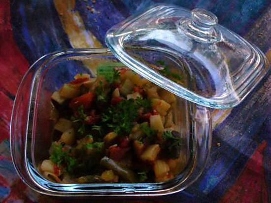 recette Ma Ratatouille à la provençale en mini cocotte
