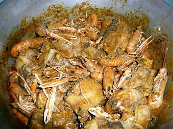 recette poulet aux langoustines