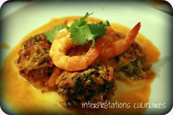 recette keftas de courgettes et crevettes en sauce tomate