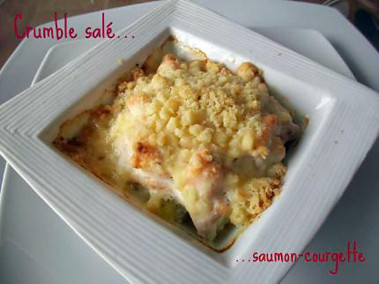 recette de crumble sal saumon courgette. Black Bedroom Furniture Sets. Home Design Ideas