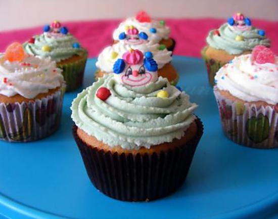 recette Cupcakes pêche-pistache et pêche-vanille (pour un anniversaire enfantin)