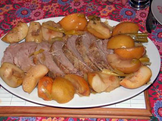 recette roti de porc à la normande
