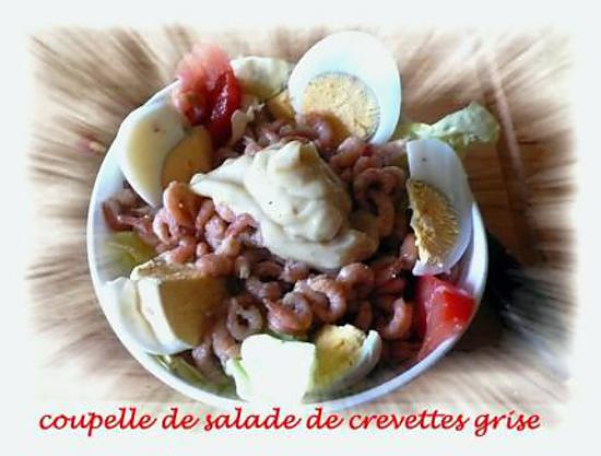 recette coupelle de salade de crevettes grise