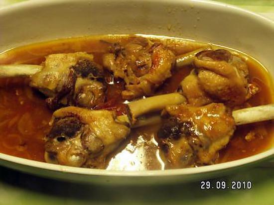 recette Manchons de canard sauce madère