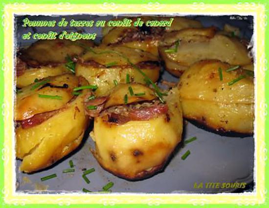 recette de pommes de terre farcies au confit de canard et au confit d 39 oignon. Black Bedroom Furniture Sets. Home Design Ideas