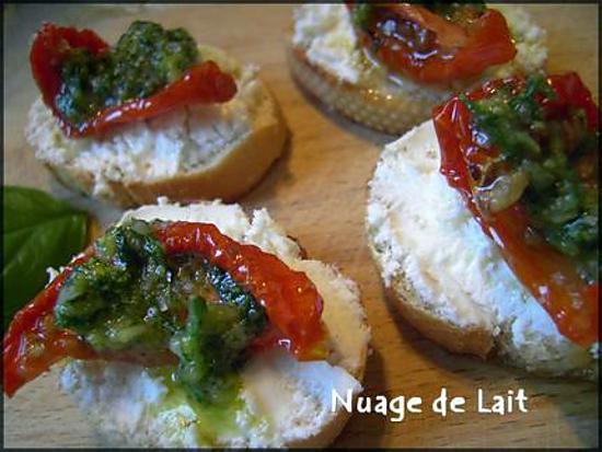 recette Mini Bruschetta à l'Italienne