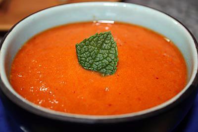 recette Crème de poivrons au piment d'Espelette
