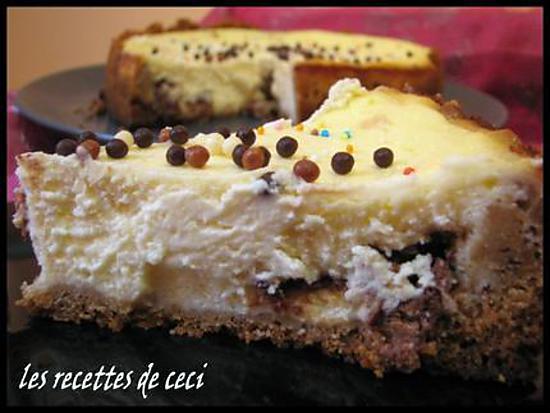 recette Cheesecake truffé de toblerone
