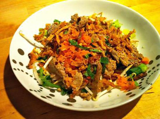 recette Salade de boeuf à la thailandaise
