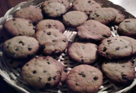 recette COOKIES CHOCOLAT ET BEURRE DE CACAHUETES