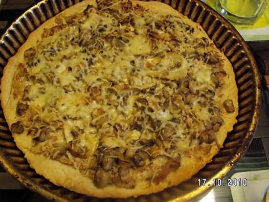 recette de pizza champignons poullet restes de poulet. Black Bedroom Furniture Sets. Home Design Ideas