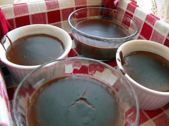recette petites crèmes au chocolat