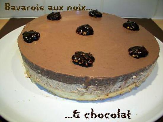 recette Bavarois aux noix & chocolat