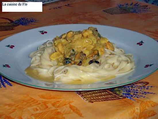 Recette de tagliatelles aux fruits de mer sauce safran e - Tagliatelles aux fruits de mer recette italienne ...