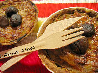 Recette de tartelettes butternut ch taignes lardons et pointe de cannelle - Temps de cuisson chataigne a l eau ...