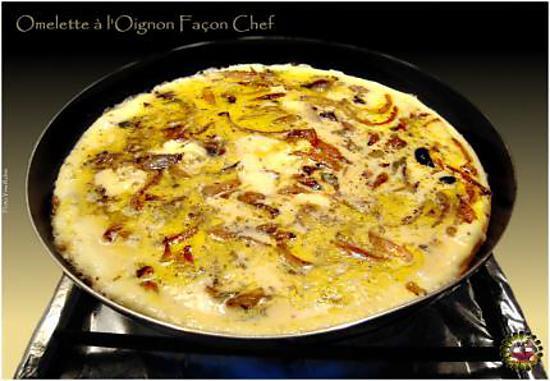 recette Omelette à l'Oignon Façon Chef