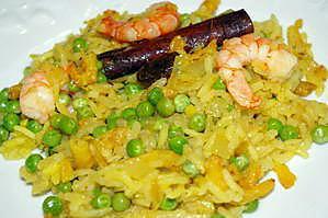 recette Riz pulao aux crevettes