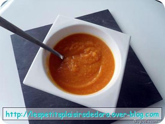 recette SOUPE POTIRON CAROTTES BACON