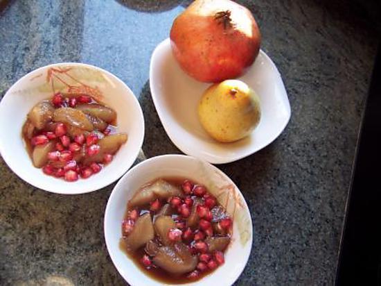 recette soupe de poires à la grenade