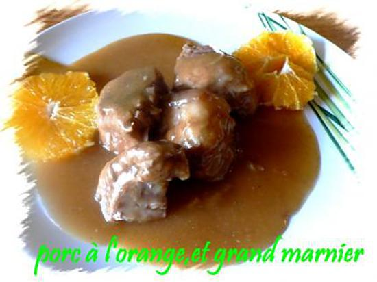 recette porc à l'orange ,et grand marnier