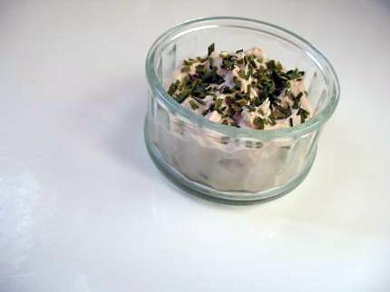 recette Verrine de thon et ses paillettes vertes
