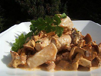 Recette de filet de poulet la cr me et aux champignons - Cuisiner les champignons pieds de mouton ...